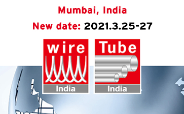 Postponement of the Indian metal fairs wire India, Tube India, METEC India and India Essen Welding & Cutting to March 2021